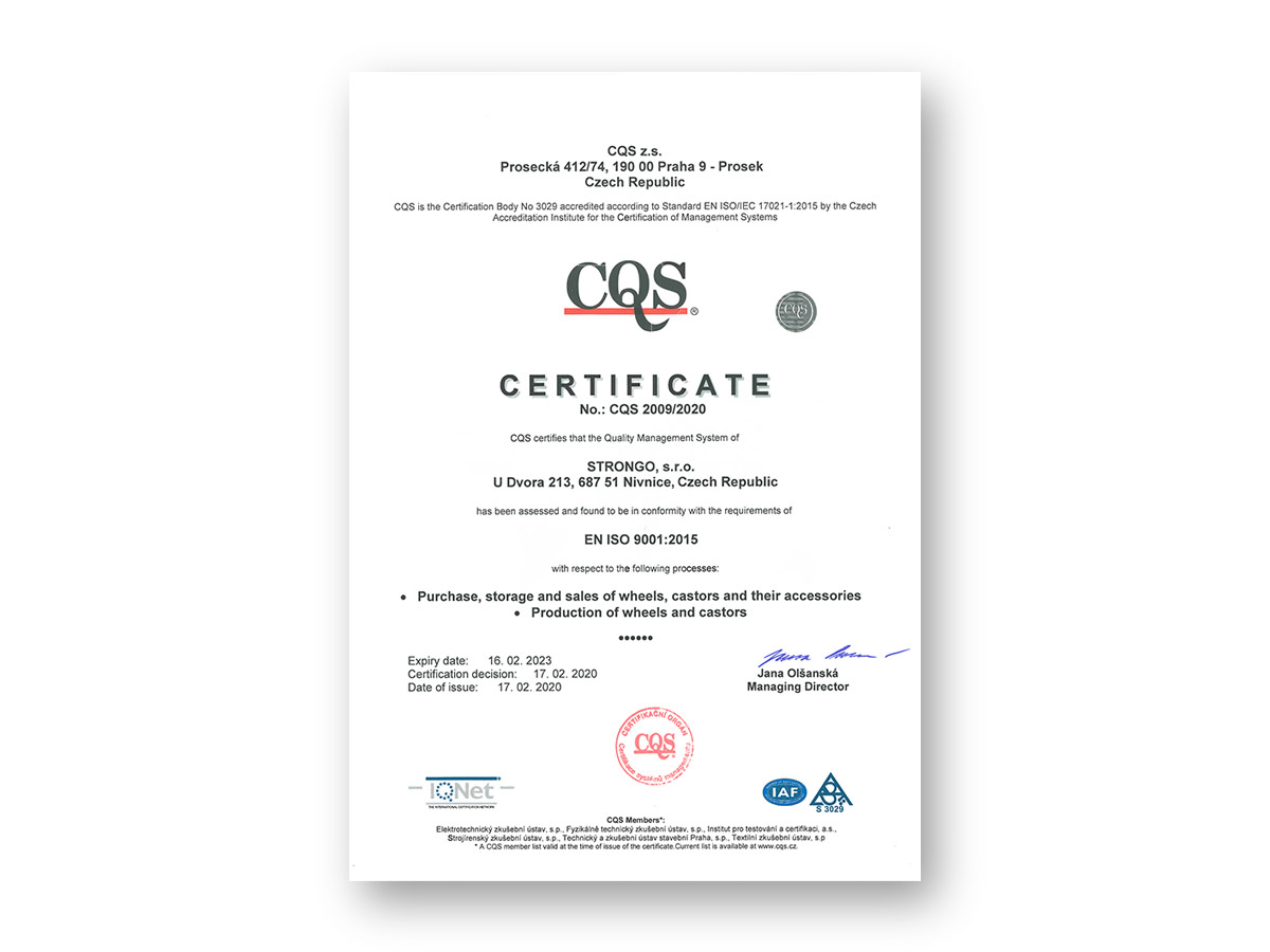 Audit ISO 9001 a jiné novinky